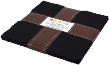 Kona Solids Black 10 squares