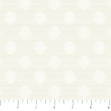 Simply Neutral - Dotted Circle Stripe - Cream