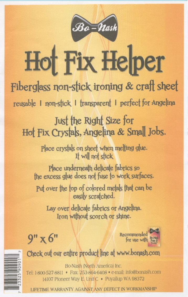 Hot Fix Helper Fiberglass Non-stick Ironing and Craft Sheet