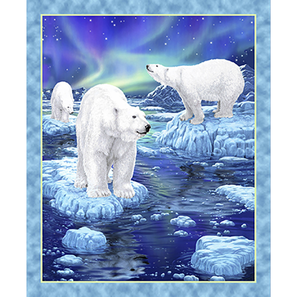 Northern Lights 24423-B Polar Bear Panel