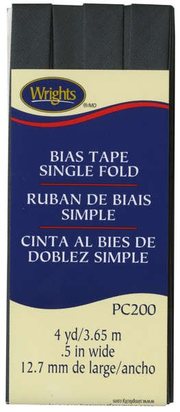 Bias Tape Single Fold 047 Dk Grey