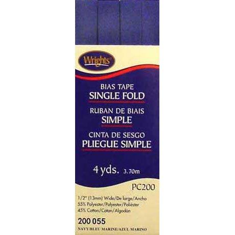 Bias Tape Single Fold 055 Navy Blue