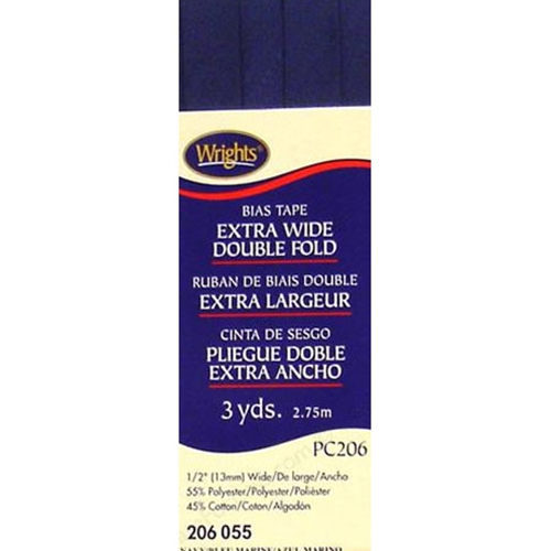 Bias Tape Extra Wide Double Fold 055 Navy