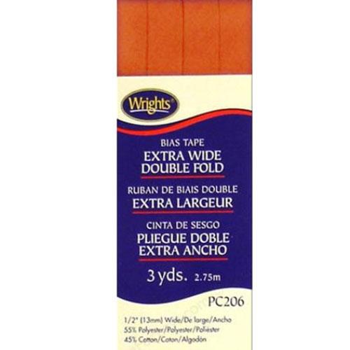 Bias Tape Extra Wide Double Fold 058 Orange