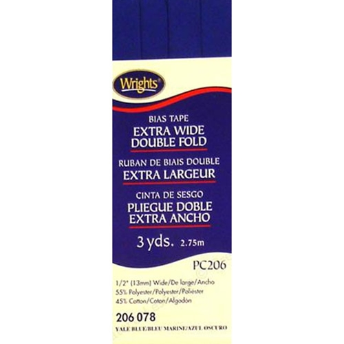 Bias Tape Extra Wide Double Fold 078 Yale Blue