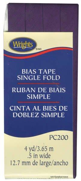 Bias Tape Single Fold 572 Plum