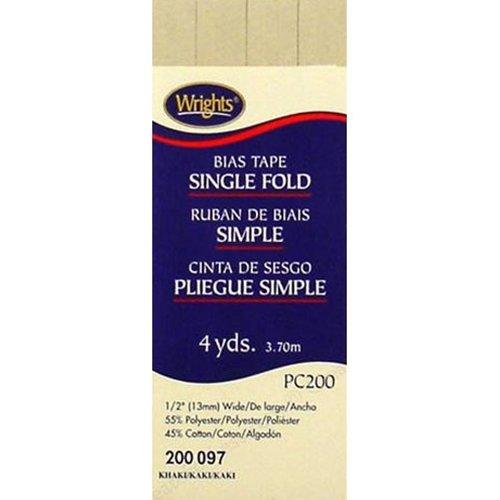 Bias Tape Single Fold 097 Khaki