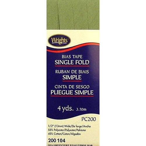 Bias Tape Single Fold 104 Sea Green