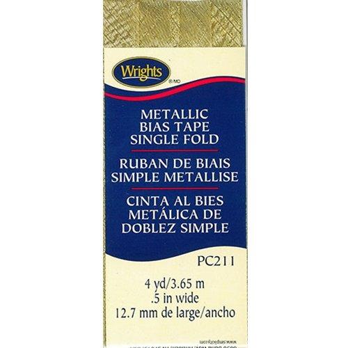 Bias Tape Single Fold 046 Metallic Gold