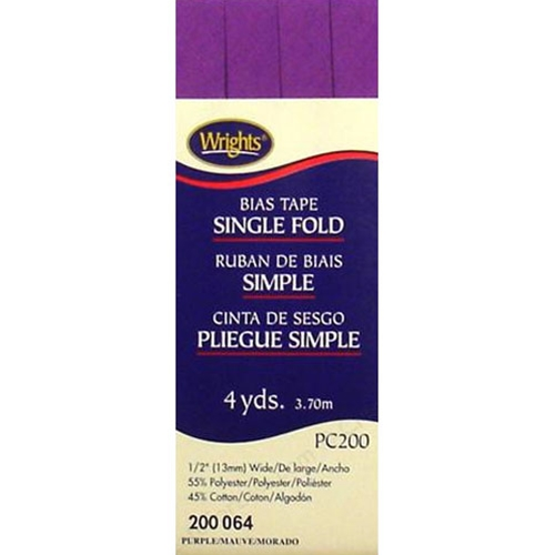 Bias Tape Single Fold 064 Purple
