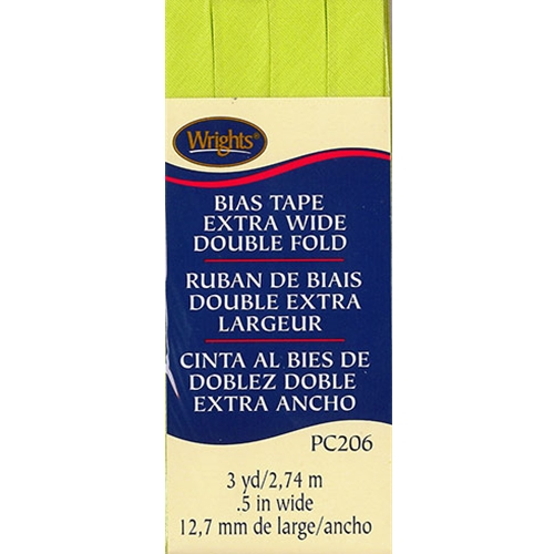 Bias Tape Extra Wide Double Fold 628 Lime Green
