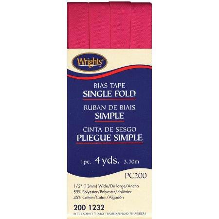Bias Tape Single Fold 1232 Berry Sorbet
