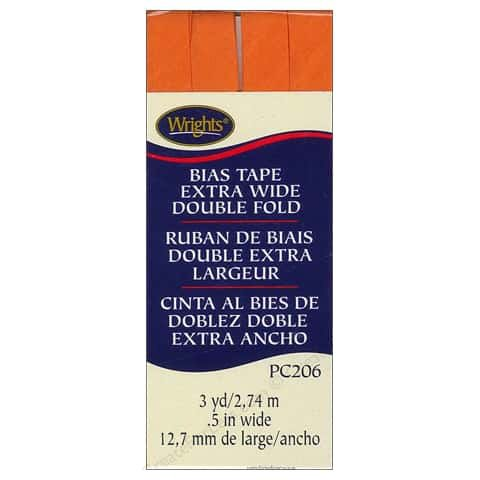 Bias Tape Extra Wide Double Fold 2197 Orange Peel
