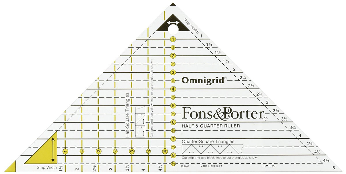 Fons & Porter Half and Quarter Ruler