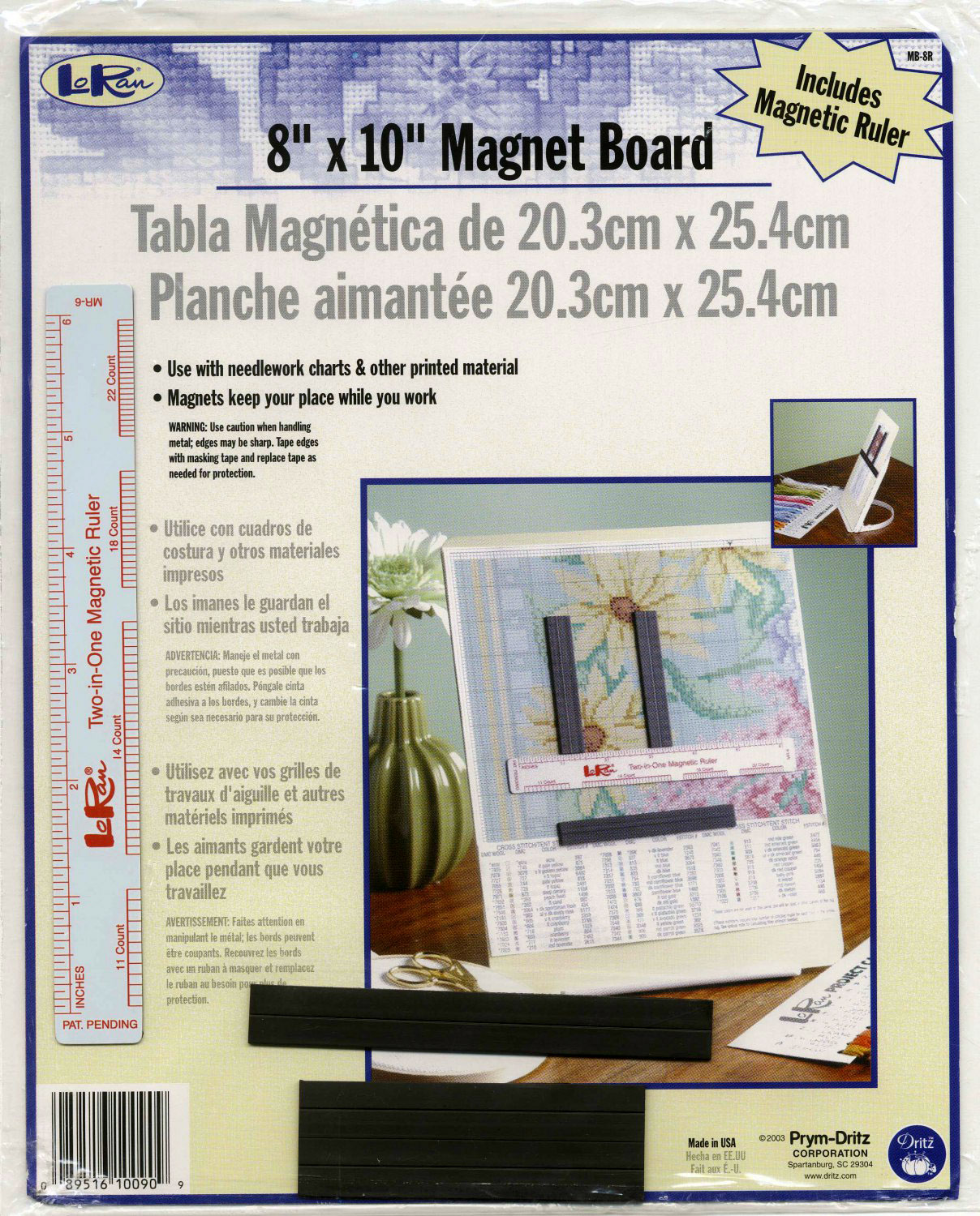 Magnet Board 8 x 10 With Ruler - 089516100909