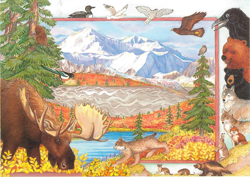 Animals Of Denali Card