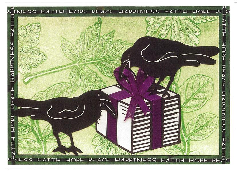 Raven's Wish Card