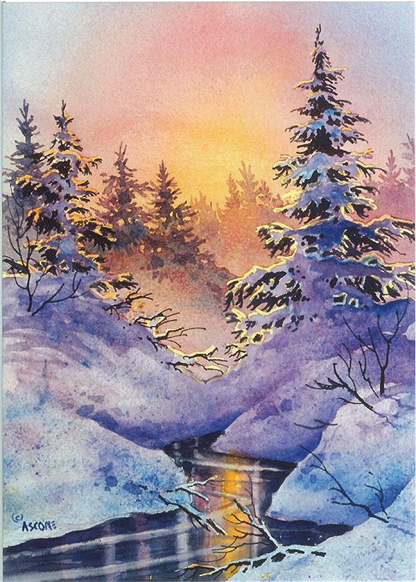 Winter Filigree Card