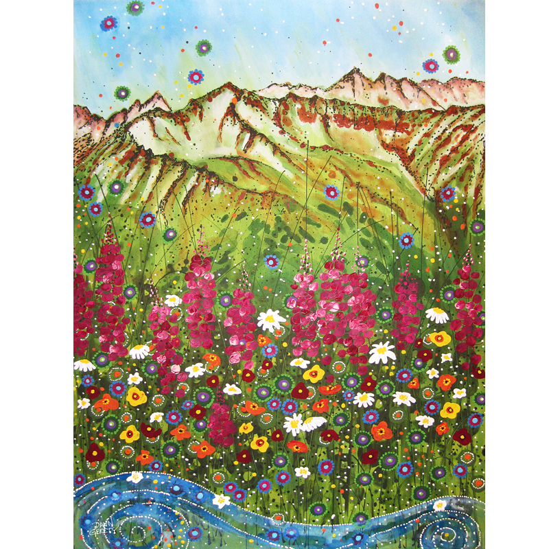Alyeska Fireweed Card