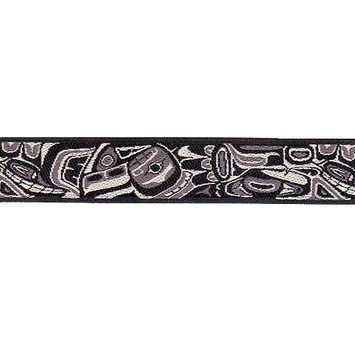 7/8 Woven Trim AK Totem Black/Gray