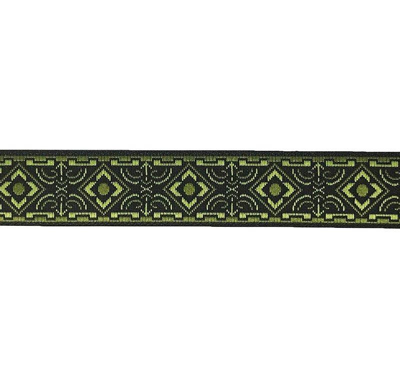 5/8 Woven Trim Geo Black/Olive/Moss