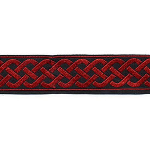 13/16 Woven Trim Celtic Knot Black/Red