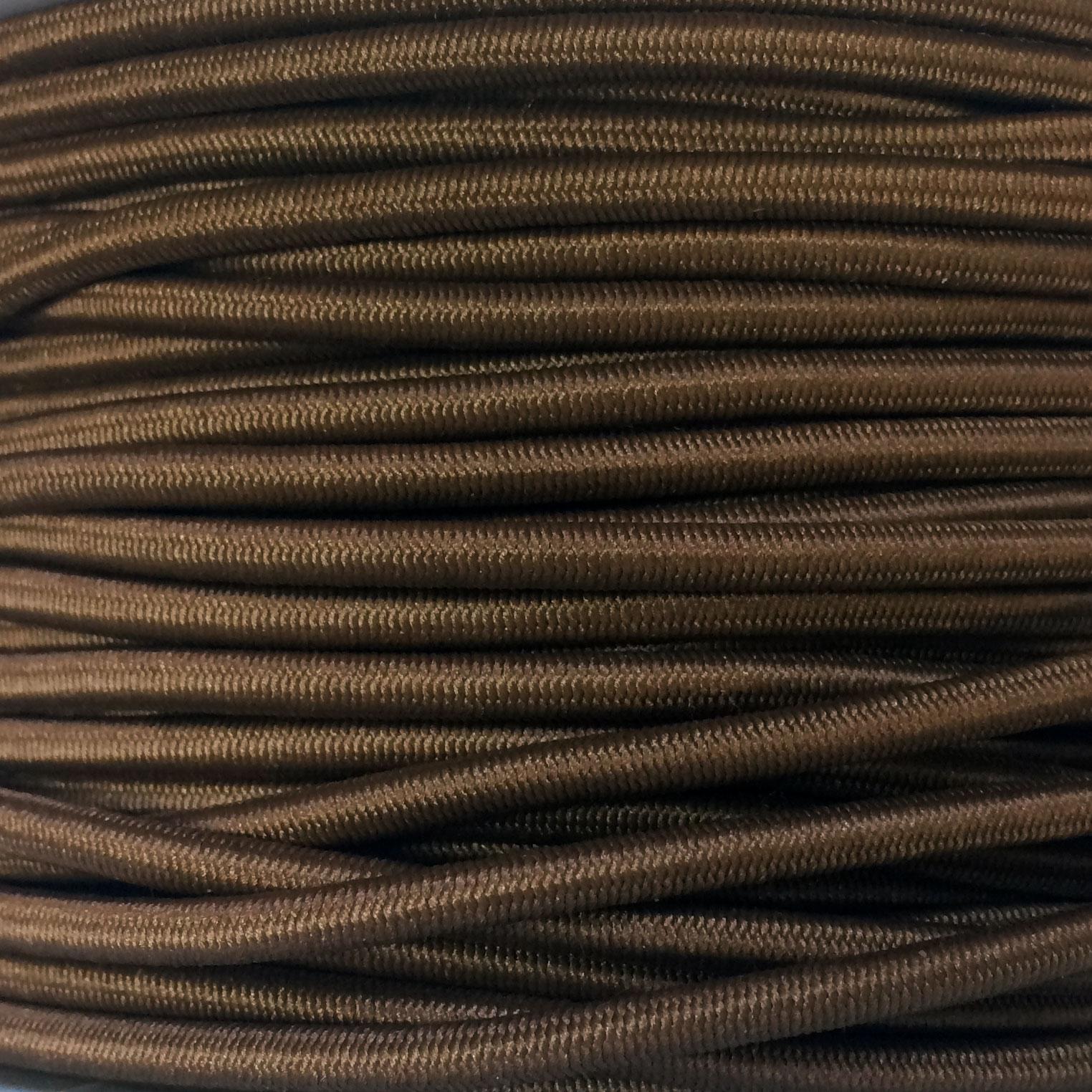 Elastic Cord 1/8 Brown