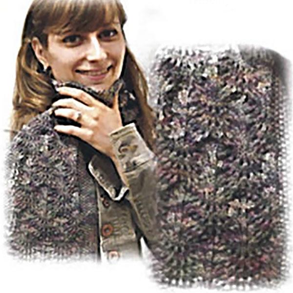 Floral Lattice Scarf Pattern