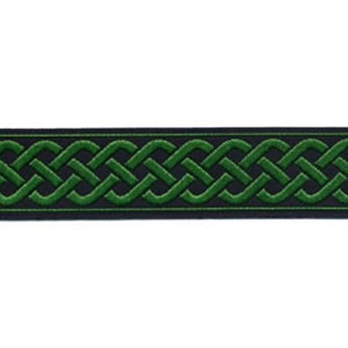 13/16 Woven Trim Celtic Knot Black/Green