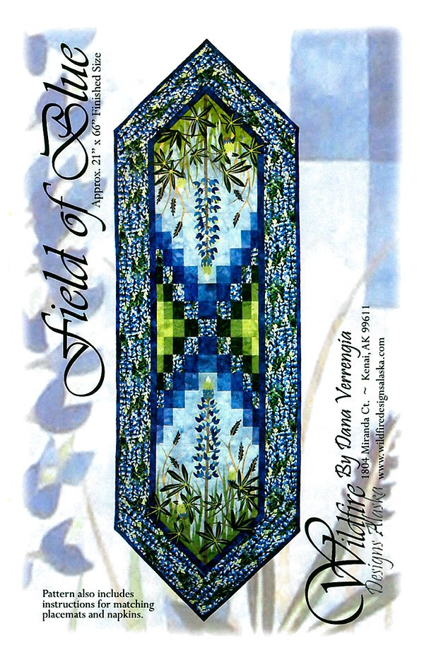 Field of Blue Table Runner Wildfire Designs