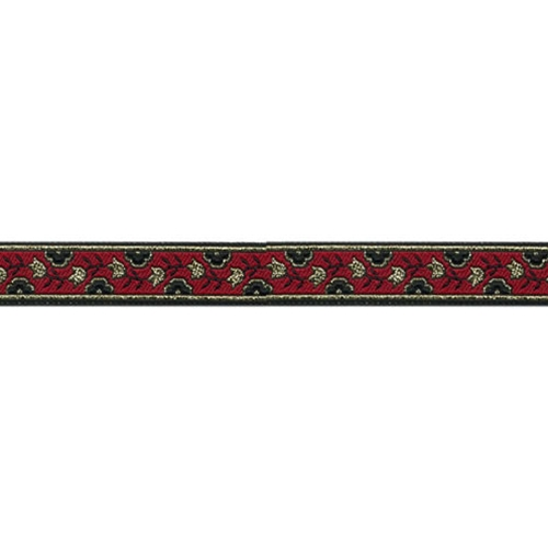 5/8 Woven Trim Red/Black/Gold