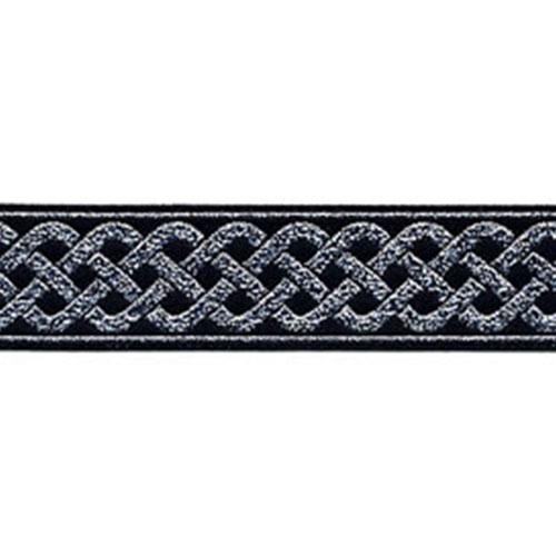 13/16 Woven Trim Celtic Knot Black/Silver