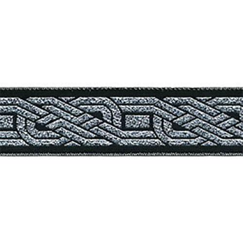 7/8 Woven Trim Knot Metllic Silver/Black