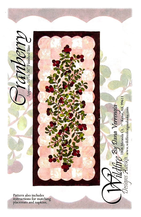 Cranberry Table Runner Pattern by Wildfire Designs