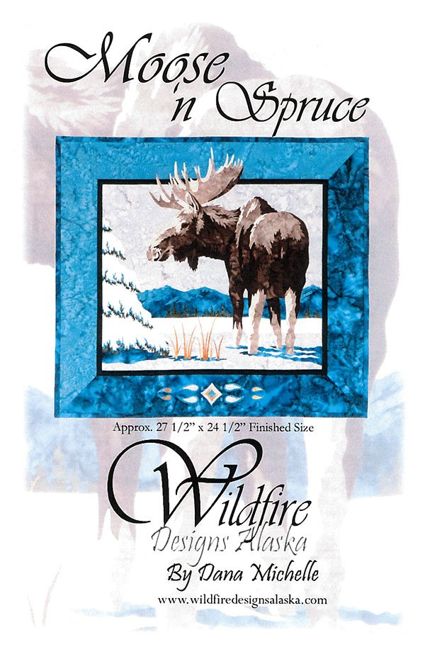 Moose 'n Spruce Pattern by Wildfire Designs