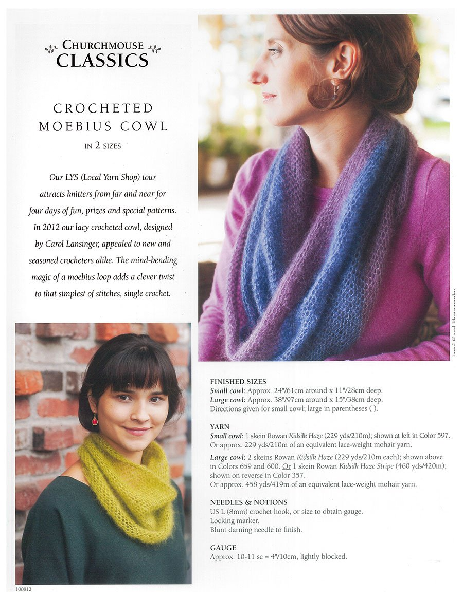 Churchmouse Classics Crocheted Moebius Cowl - 19960012785