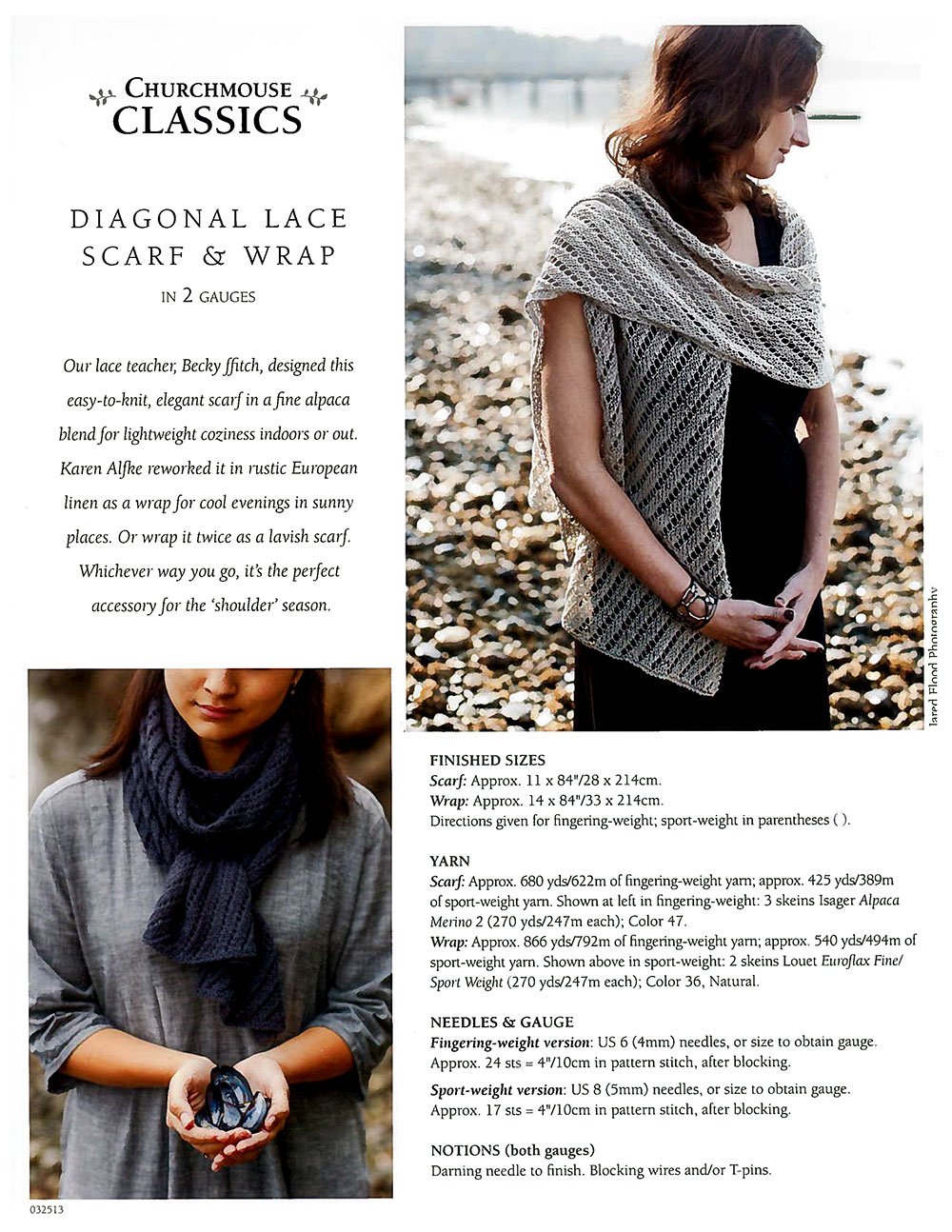 Diagonal Lace Scarf and Wrap - 19960012786