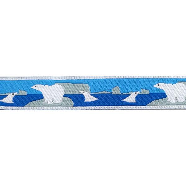 5/8 Woven Trim AK Polar Bears