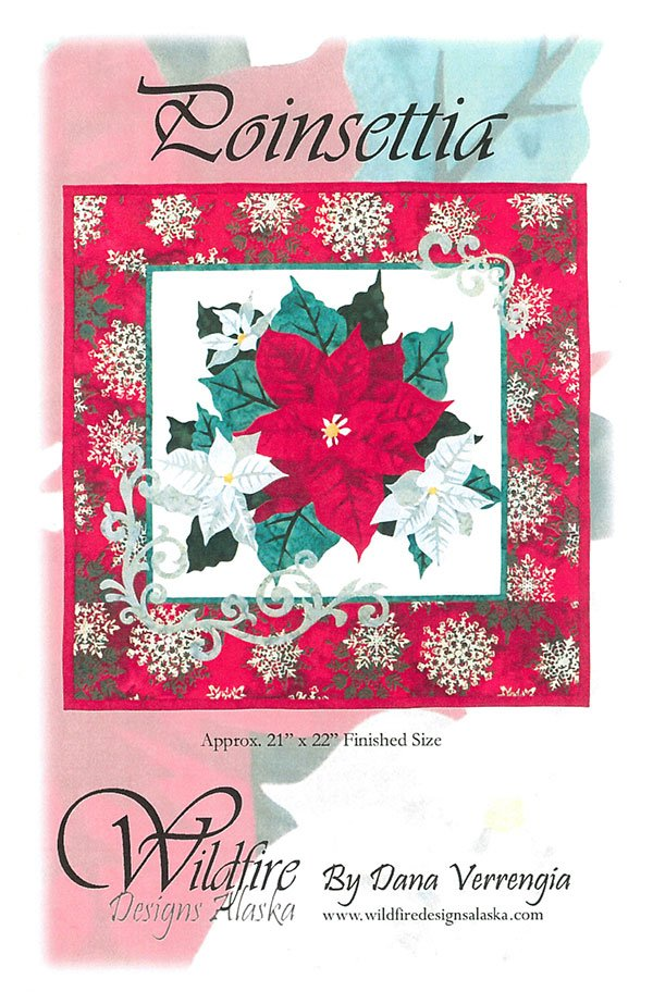 Poinsettia Red  Pattern by Wildfire Designs
