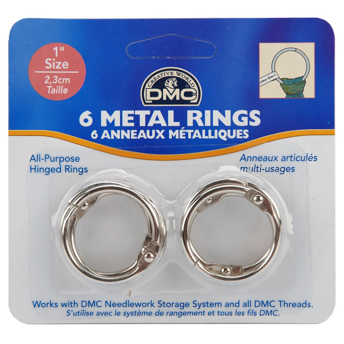 Metal Rings 6 ct 1 Inch