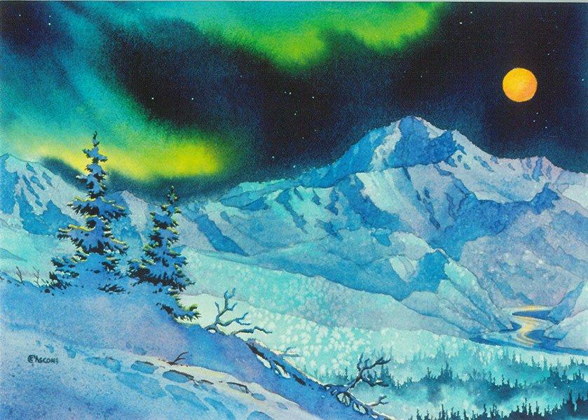 Denali Night Card