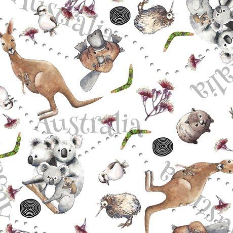 Animal Toss White - Kiwis and Koalas