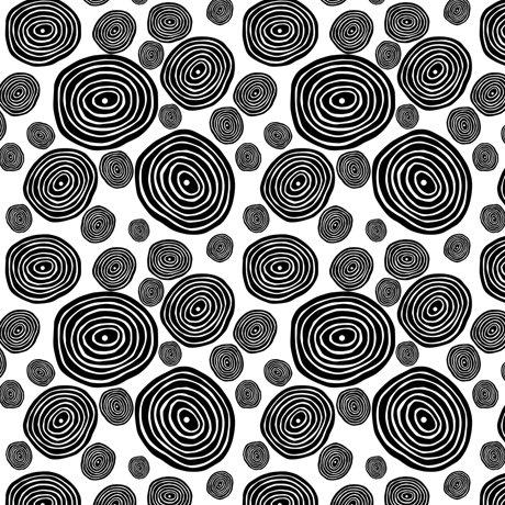 Circle Geo White & Black - Kiwis and Koalas