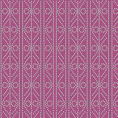 Decorative Dotted Stripe Raspb - Kiwis and Koalas