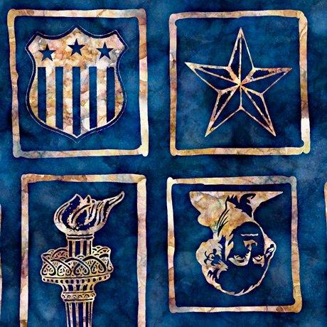 Patriotic Blocks Blue 28143N