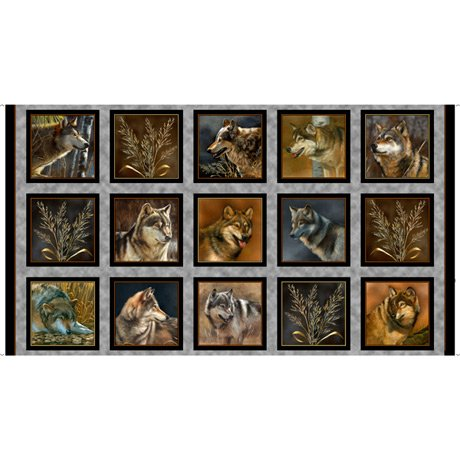Wolf Picture Patches Panel- Majestic Wolves