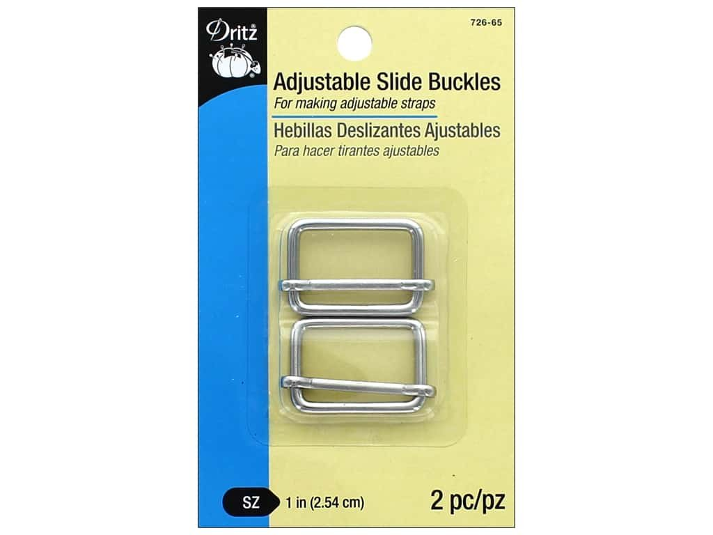 Adjustable Slide Buckle 1 nickel - 2 piece set