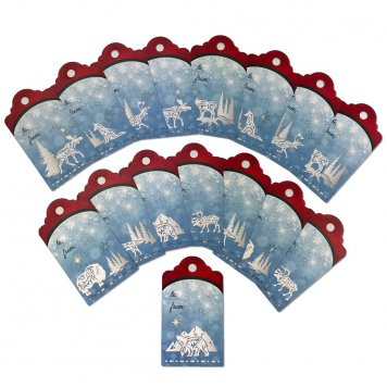 Arctic Holiday Tags