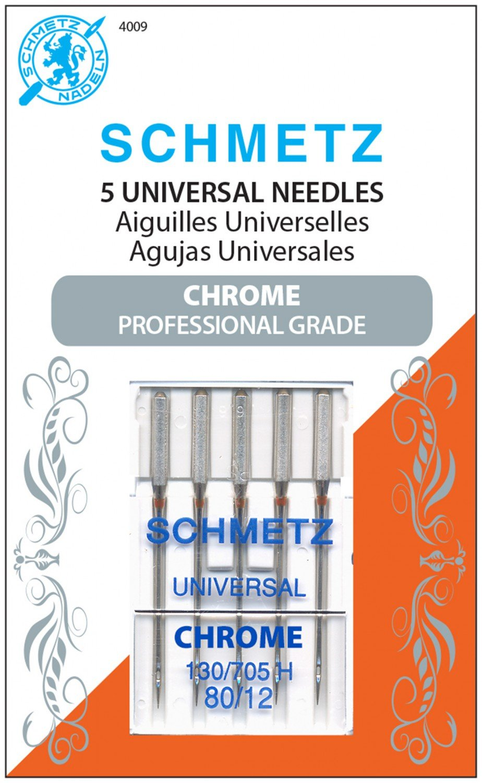 Schmetz Universal Chrome Machine Needle Size 80/12