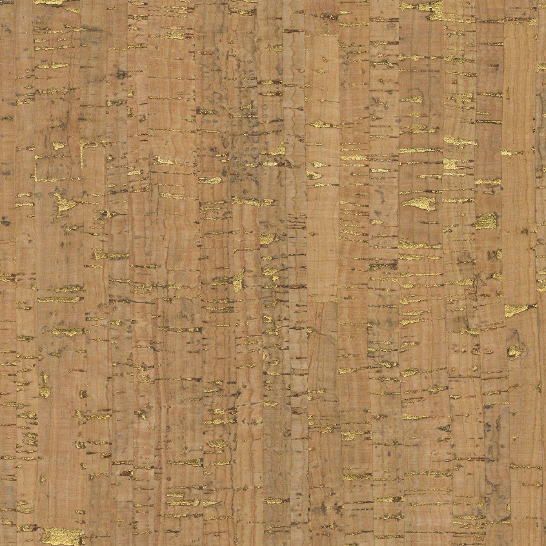 25 x 27 Cork Fabric with Metallic Gold